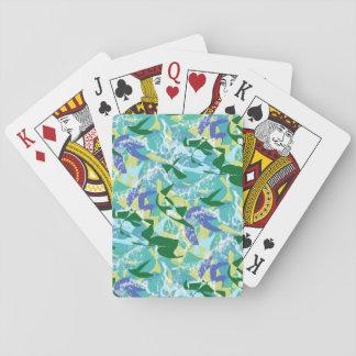L'eau de vert bleu de mer d'océan d'algue d'algues jeu de cartes