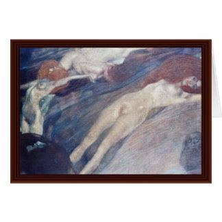 L'eau mobile par Klimt Gustav Carte