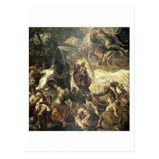 L'eau saisissante de Moïse de la roche, 1575 Carte Postale