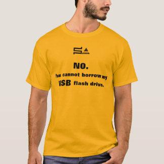 L'éclair d'USB conduit le T-shirt de logo de