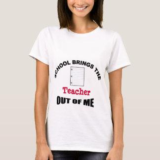 L'école apporte au professeur hors de moi le t-shirt