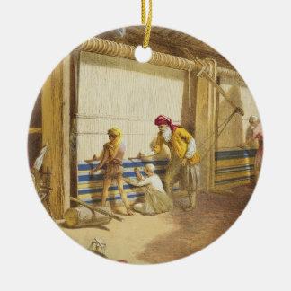 L'école de voyou de l'industrie, Jubbulpore, 1863 Ornement Rond En Céramique