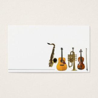 Leçons de musique cartes de visite