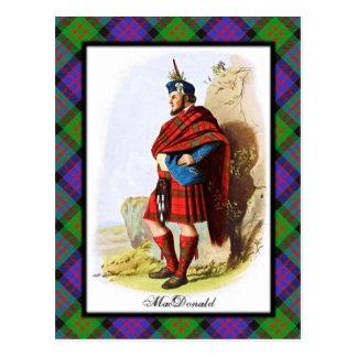 L'écossais de MacDonald de clan rêve la carte