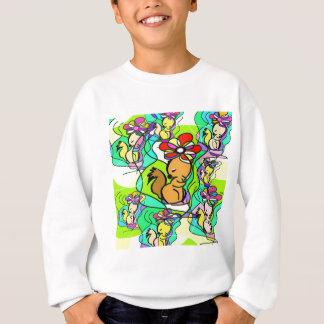 L'écureuil et la fleur sweatshirt