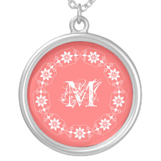 L'edelweiss choisissent votre collier d'initiale d