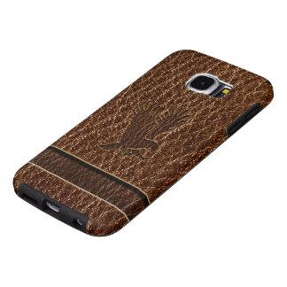 Leder-blik Eagle Samsung Galaxy S6 Hoesje