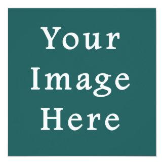 Lege Sjabloon van de Tendens van de Kleur van de 13,3x13,3 Vierkante Uitnodiging Kaart