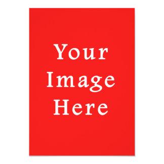 Lege Sjabloon van de Tendens van de Rode Kleur van 12,7x17,8 Uitnodiging Kaart