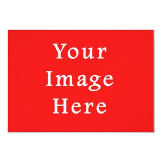 Lege Sjabloon van de Tendens van de Rode Kleur van 8,9x12,7 Uitnodiging Kaart