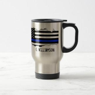 Légèrement arraché nom de coutume de drapeau mug de voyage