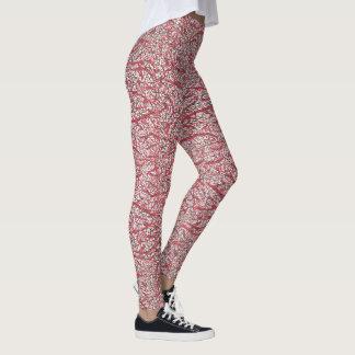 Leggings Activewear rouge et noir modelé de concepteur