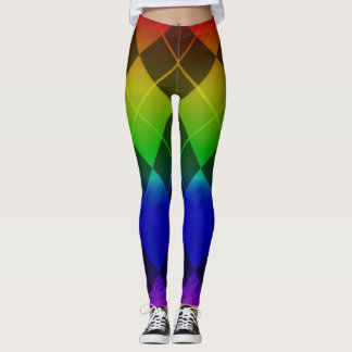 Leggings arc-en-ciel de motif