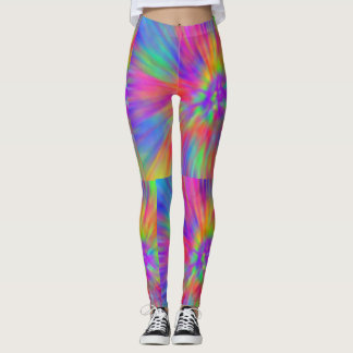 Leggings arc-en-ciel en pastel