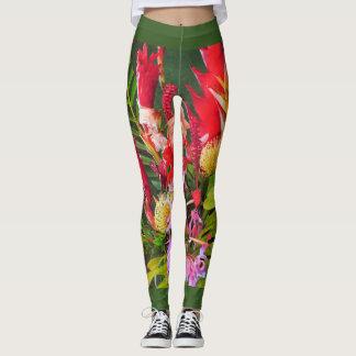Leggings Bouquet tropical