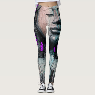 Leggings Budha pourpre