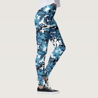 Leggings Camo bleu