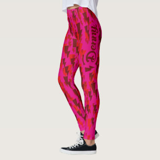Leggings camo denny rouge/rose