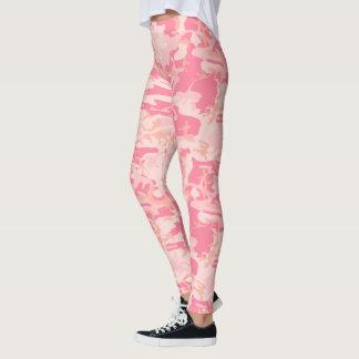 Leggings Camouflage foncé rose-clair de Camo de rose et de