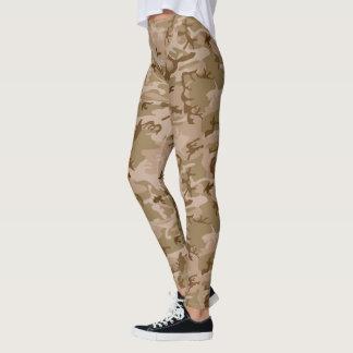 Leggings Camouflage vert beige de Brown Camo de désert