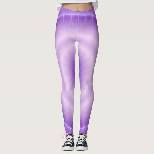 Leggings Chakra Energy (& clignote violet)