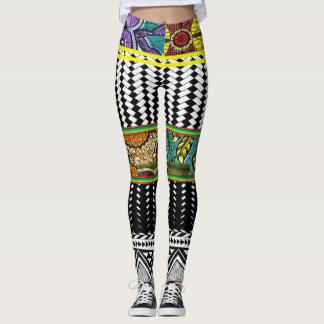 Leggings Conception abstraite de style d'Africain