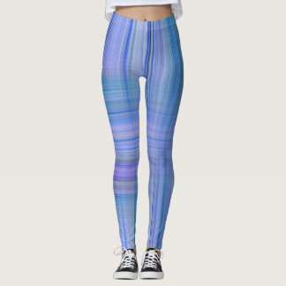 Leggings Conception barrée par lavande bleue de n