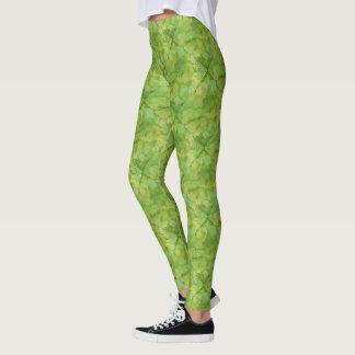 Leggings Conception verte vibrante d'aquarelle