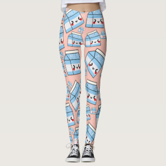 Leggings Copie de lait de Kawaii