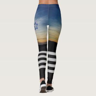 Leggings Coucher du soleil élevé de genou