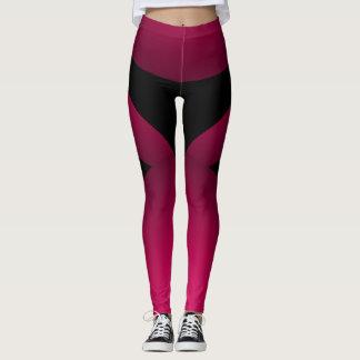 Leggings Danse de régime chic sportive noire rose de sports