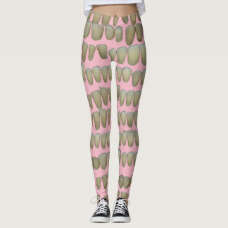 Leggings Dents dentaires sur le dentiste rose d'art