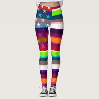 Leggings Drapeau américain de rétro couleur