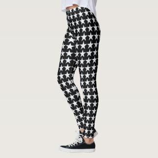 Leggings étoiles de blanc sur le noir