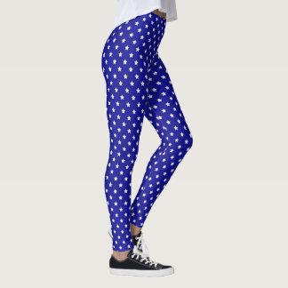 Leggings Étoiles de bleu et de blanc