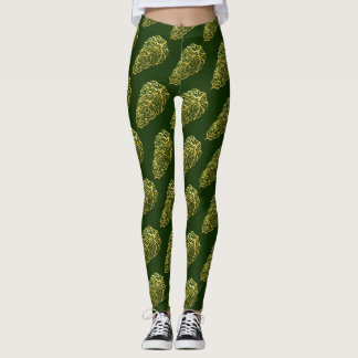 Leggings FEUILLE VERT SQUELETTIQUE de Slipperywindow