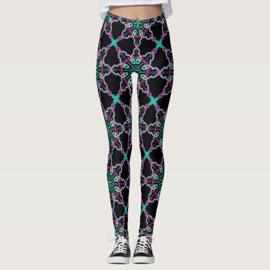 Leggings Fractal Kaléidoscope Psychédélique