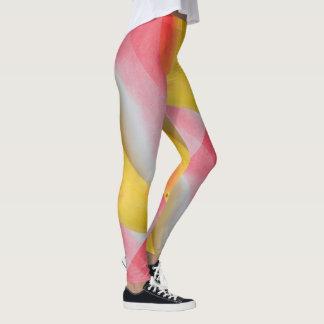 Leggings Girly tourbillonnant jaune rose