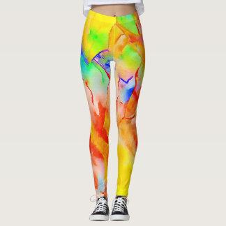 Leggings Guêtres à la mode dans un motif vibrant