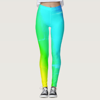 Leggings Guêtres colorées multi d'arc-en-ciel