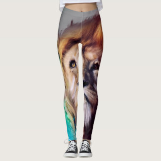 Leggings Guêtres de lion d'arc-en-ciel