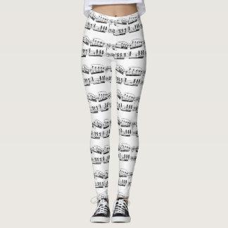 Leggings Guêtres d'illustration musicale