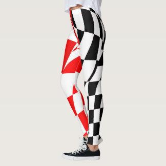 Leggings Guêtres - drapeau Checkered modifié