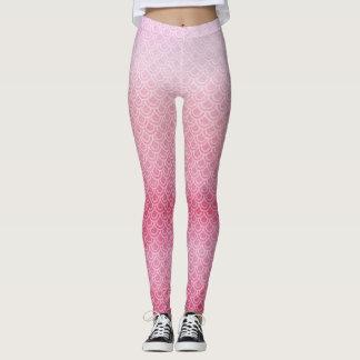 Leggings Guêtres écallieuses de jambes de sirène rose