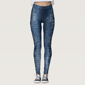 Leggings Guêtres orientales de denim