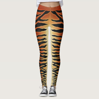Leggings Guêtres rayées de tigre