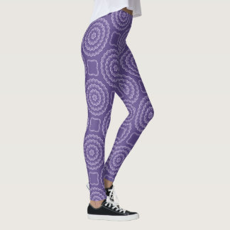 Leggings Guêtres ultra-violettes d'impression de motif de