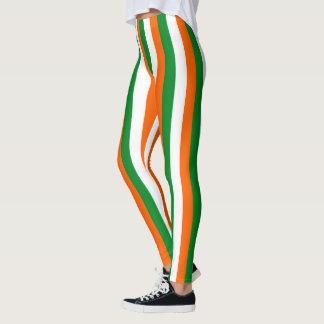 Leggings La couleur irlandaise de style barre le décor