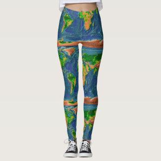 Leggings La terre topographique
