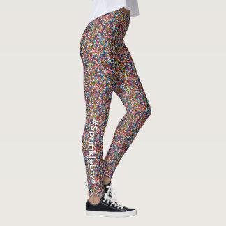 Leggings L'amusement multicolore de #SprinkleLove arrose le
